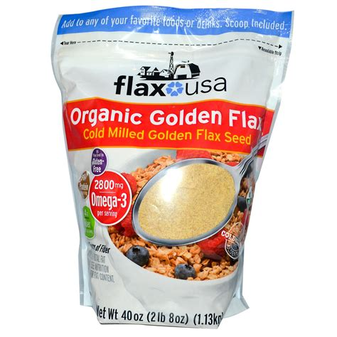 Organic Golden Flaxseed flax usa inc organic golden flax cold milled golden