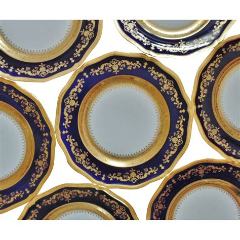 blue and gold l 8 limoges cobalt blue gold encrusted dinner cabinet