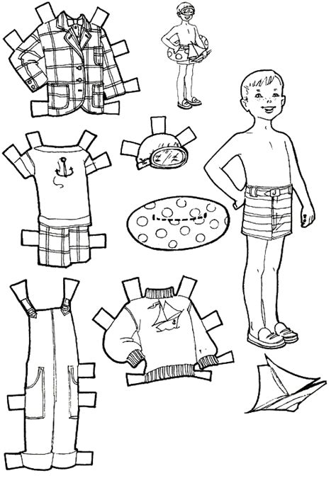 How To Make Cut Out Paper Dolls - vacation paper dolls