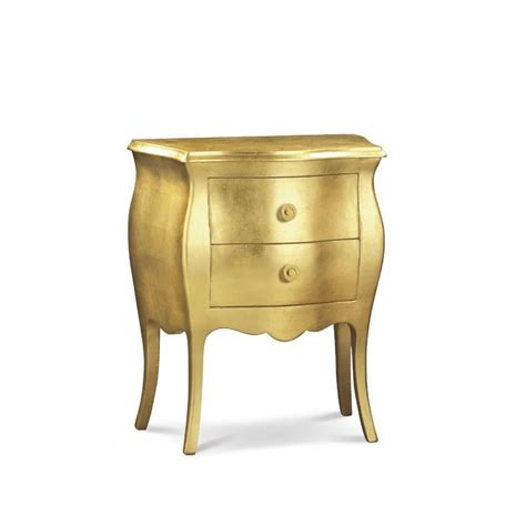 comodino bombato comodino bombato color oro