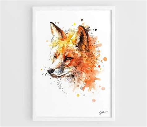 Poster Fox by Fox Animal Poster Fox Fox Illustration Fox Prints Fox