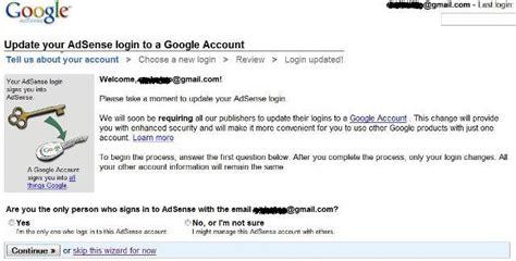 adsense google account adsense login to update to google account tech journey