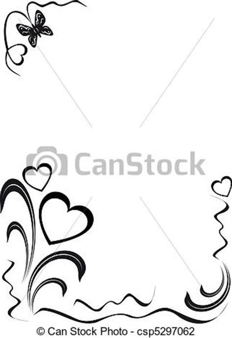 imagenes en blanco y negro de mariposas ilustraciones de vectores de floral corazones mariposa