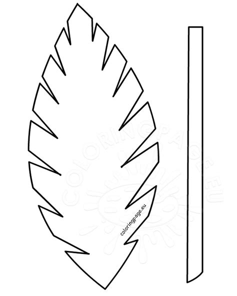 palm branch template easter template palm leaf palm sunday school lesson