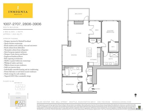 insignia seattle floor plans insignia seattle floor plans condo unit 1907s at insignia