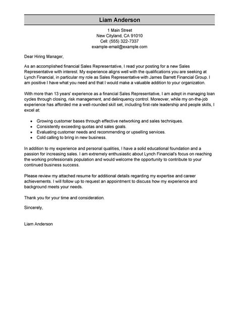 Leading Professional Sales Representative Cover Letter