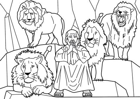 printable coloring pages daniel and the lions den daniel and the lions den coloring activities coloring pages