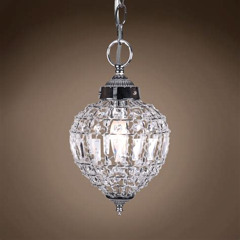 Beaded Glass Pendant Light Joshua Marshal 7023 001 1 Light Beaded Mini Pendant Light In Chrome Finish With Clear