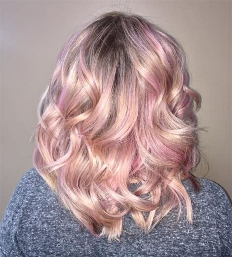 funky colour blonde hair styles curly 71 smoking hot rose gold hair color ideas for 2018