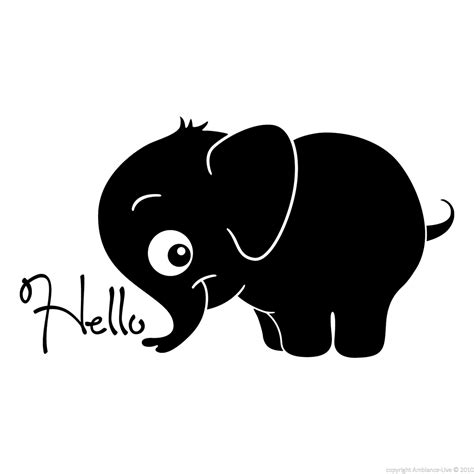 Fairy Wall Stickers animals wall decals baby elephant hello wall decal