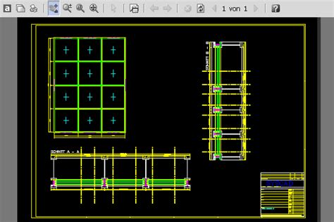 curtain wall section dwg syscad team gmbh autocad software for metal