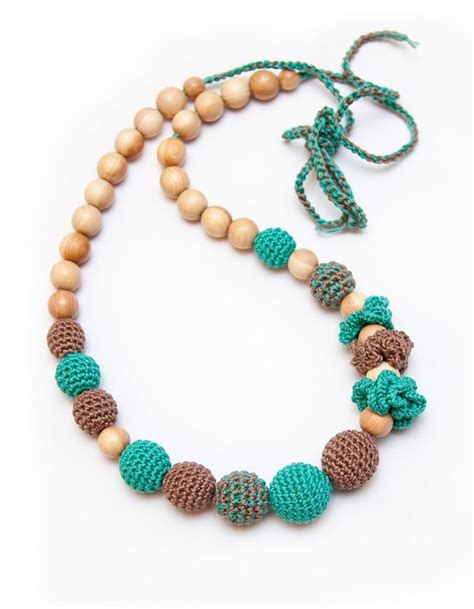 how to make teething jewelry teething necklace crochet inspiration