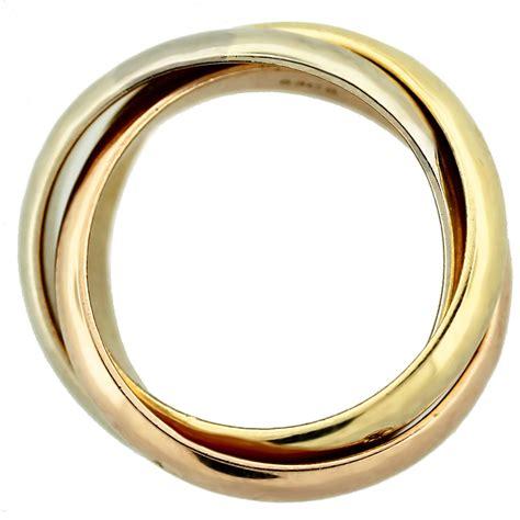 cartier de cartier tri color 18k gold ring boca raton