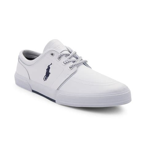 polo shoes mens faxon casual shoe by polo ralph white 866143