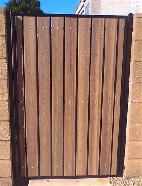 iron and wood gates design iron and wood gates standard iron composite pedestrian gate