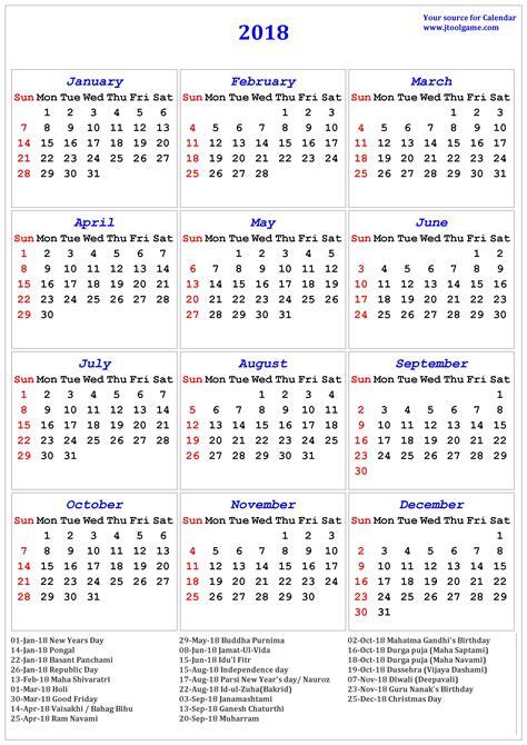 national australia bank india 2018 calendar with holidays usa printable printable