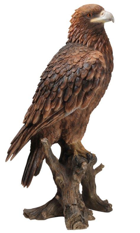 golden eagle resin garden ornament