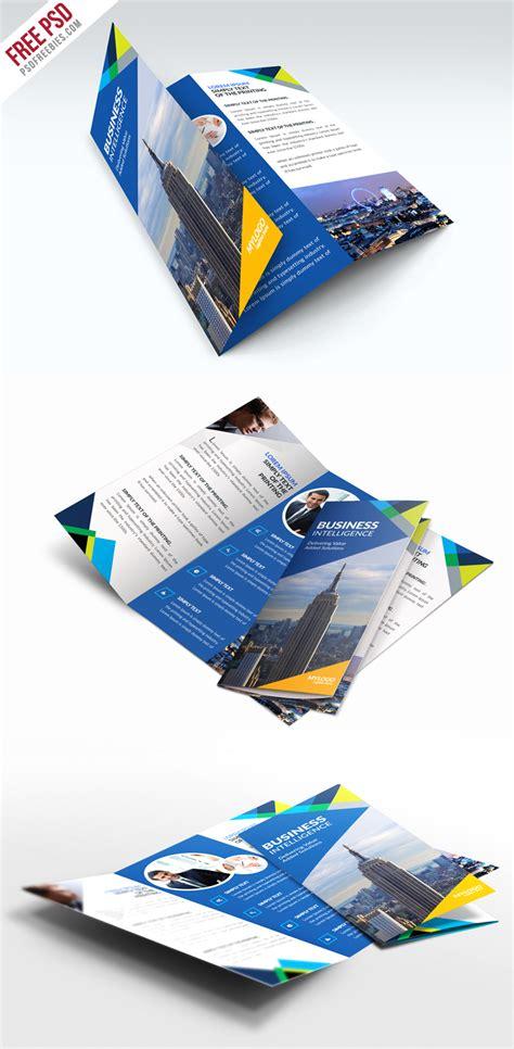 free business trifold brochure psd template psdfreebies com