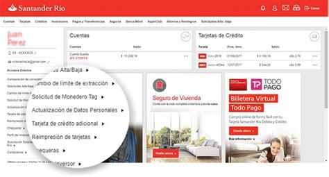 banco santander cuentas online santander r 237 o canales de atenci 243 n online banking