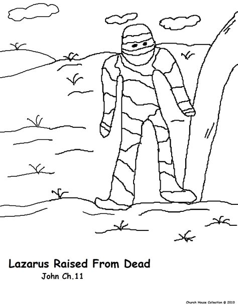 free coloring pages of with jesus lazarus
