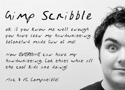 dafont gimp gimp scribble font dafont com