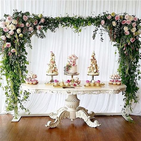 cake table backdrop best 25 dessert table backdrop ideas on