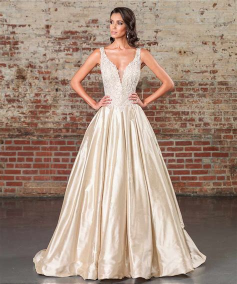 Gold Wedding Dresses Uk by Gold Wedding Dresses 17 Dazzling Designs Hitched Co Uk