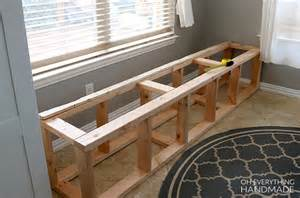 built in benches in kitchen how to build a kitchen nook bench oh everything handmade