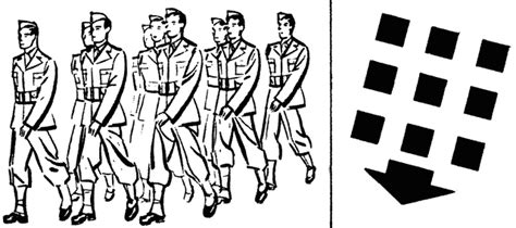 military personnel formation marching clipart