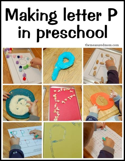 creative ways to write letter p the measured mom