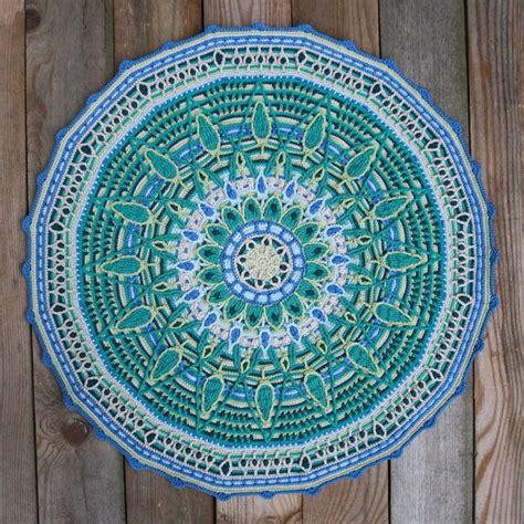 blue mandala pattern 40 crochet patrones de mandala