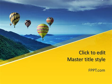 Free Air Balloons Powerpoint Template Free Powerpoint Air Powerpoint Template