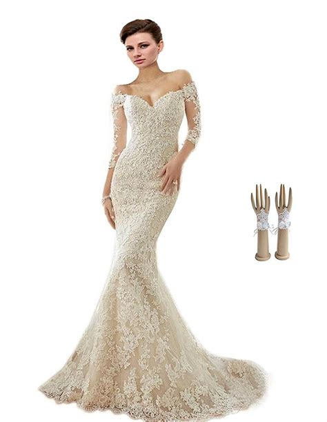 Off the shoulder Appliques Wedding Dress   Cute Dresses