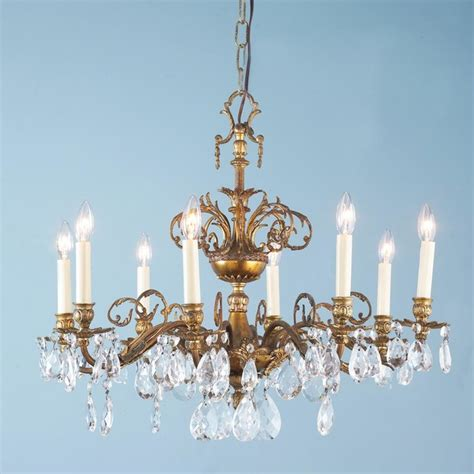 Antique Chandelier Crystals Antique Brass Urn And Chandelier Chandeliers By Shades Of Light