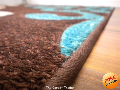 Turquoise And Brown Rug Viola 2366k Brown Turquoise Rug Available In Two