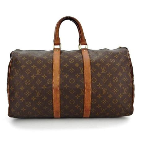 louis vuitton keepall  duffel brown monogram canvas