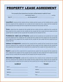 Free Lease Templates by Free Printable Lease Template Sles Vlashed