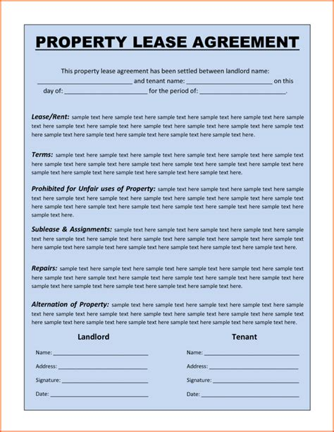 %name rental agreement document   Free Illinois Commercial Lease Agreement   PDF   Word (.doc)