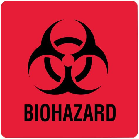Printable Biohazard Label | biohazard warning label 8 quot x 10 quot united ad label