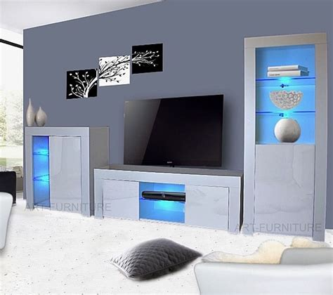 Livingroom Units by Modern Matt White Gloss Living Room Furniture Tv Unit