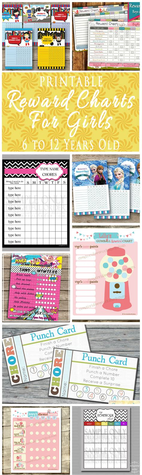 printable reward charts for kids 6 to 12 years old printable printable reward charts for kids 6 to 12 years old omg