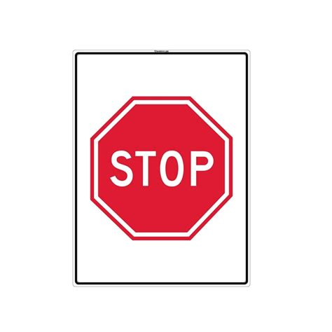 Stop X sandleford 450 x 600mm plastic stop sign bunnings warehouse