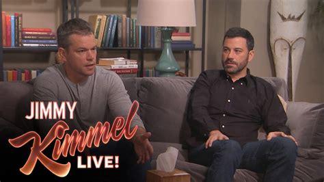 Jimmy Kimmel Mat Damon by Matt Damon And Jimmy Kimmel Go To Couples Therapy