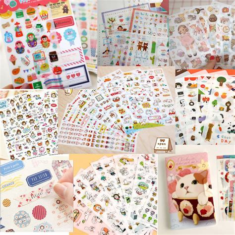 8 Adorable Stationery Kits by Stationery 6sheets 1set Kawaii Deco Cat