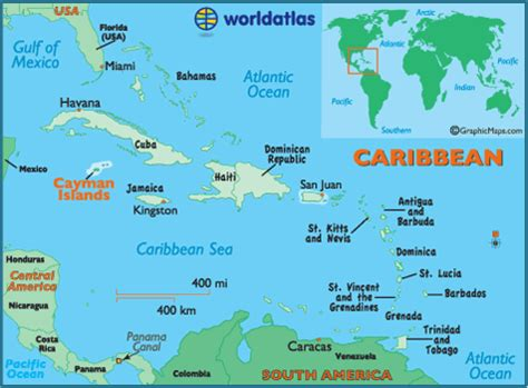 where are the cayman islands on a world map cayman islands map geography of cayman islands map of