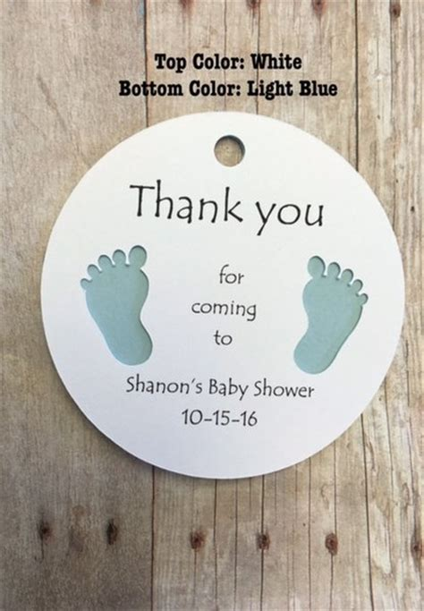 Thank You Tags For Baby Shower by Gift Tags With Baby Thank You For Coming