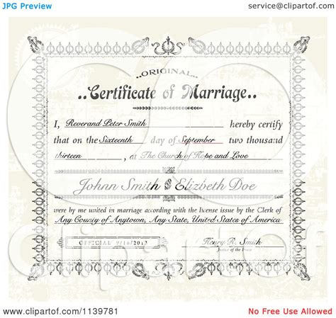A Marriage Free Marriage Certificate Clip 85
