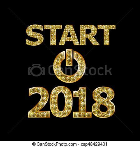 new year 2018 start start new year 2018 vector clipart search illustration