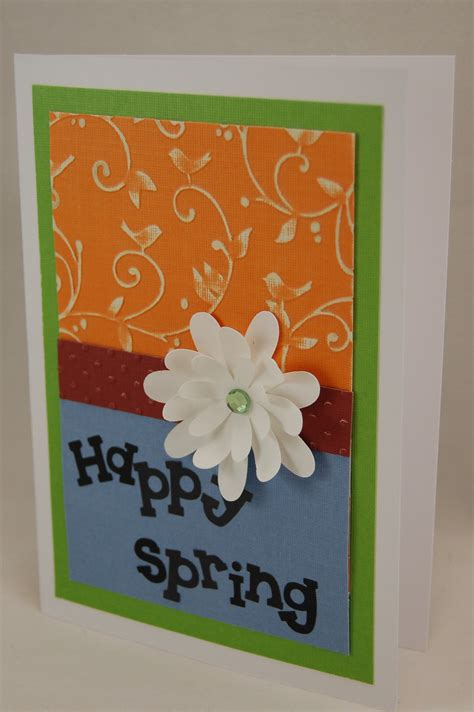 Craft Handmade Cards - quot happy quot handmade greeting card