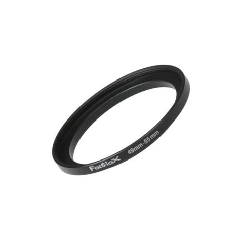 Step Ring 55 49mm fotodiox metal step up ring filter adapter anodized black aluminum 49mm 55mm 49 55 mm cameras